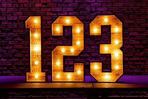 4ft rustic light numbers