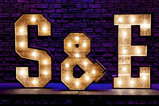 4ft rustic light up letter initials