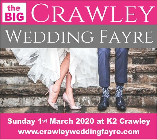 The Crawley Wedding Fayre Sunday 1st March 2020